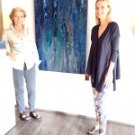 ARC Gallery owner Mrs. Giovenzana & Valentinaki